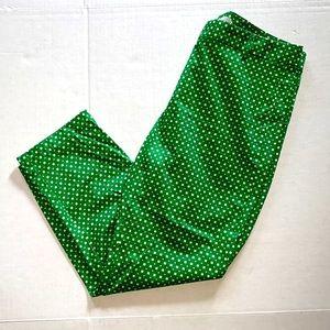 GAP Green & White Slim Cropped Pants Sz 8